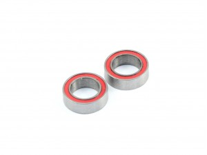 5x8x2.5mm Competition Grade Ceramic Ball Bearing, 2 pcs, Red Rubber Seal