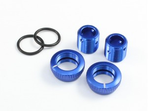 Aluminum Body Height Fine Adjuster Set for 1/12, Blue (BA-10017)