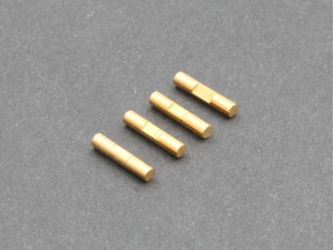 2x10mm Shaft Pin with Lock Slot, Titanium Coated, 4 pcs (PDJ-10011)