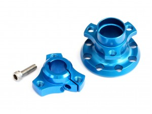 Aluminum Narrow (width -4mm) Differential Hub Set for 1/12 Pan Car, Blue (PC-10001)