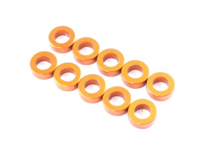3x5.5x0.5mm Aluminium Spacer, 10 pcs, Orange (AC-10001)