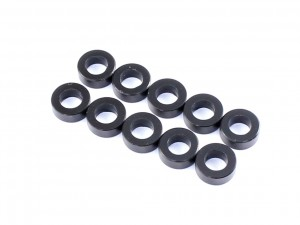 3x5.5x0.5mm Aluminium Spacer, 10 pcs, Black (AC-10005)