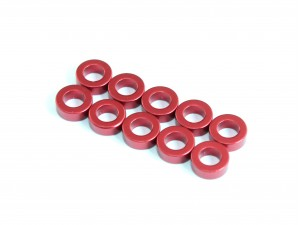 3x5.5x1.0mm Aluminium Spacer, 10 pcs, Red (AC-10017)