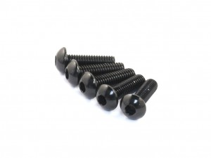 M3x8mm Aluminum Button Head Screw, Black, 5 pcs (AC-30003)