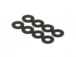 3x7x0.5mm Aluminum Damper Spacer, 8 pcs, Black (AC-10031)