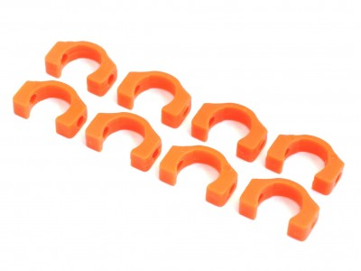 3.5mm POM C-blade for Xray T4, 8 pcs (Orange) (XR-10027)