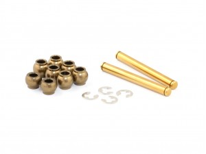 Hard Coated Aluminum Front Suspension Pivot Balls (8 pcs) and Titanium Coated Kingpin Set for X1 (XR-10030)