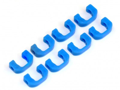 3.5mm POM C-blade for Yokomo BD7/BD8, 8 pcs (Blue) (YK-10016)